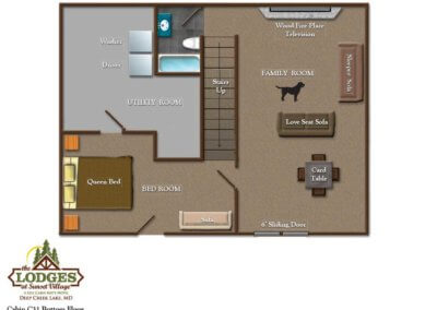 Cabin 31 - Lower Level Layout
